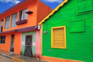 Casas caribeñas en Isla Mujeres